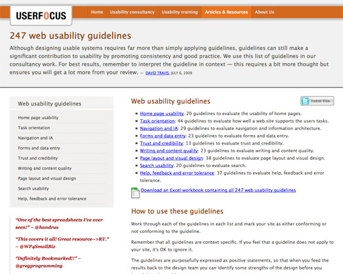 247 web usability guidelines