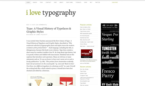 I Love Typography Font Stack Example