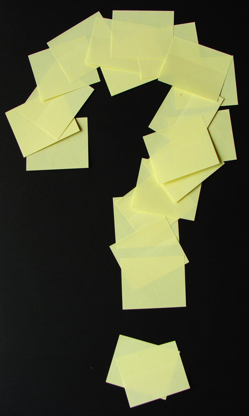 Post-it Question Mark