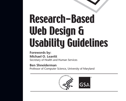 research-based usability guidelines