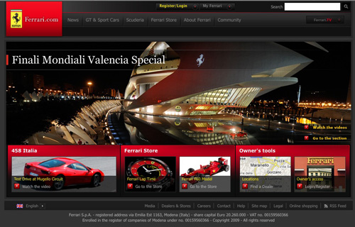 Ferrari Search Location Example