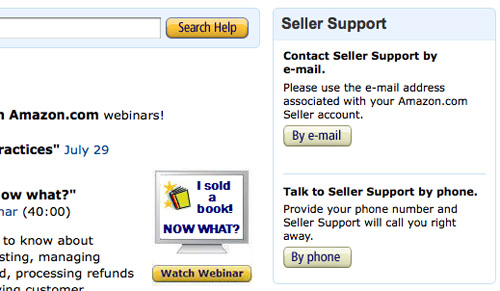 Amazon New Seller FAQ Support