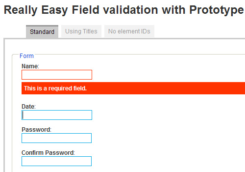 Really Easy Field Validation