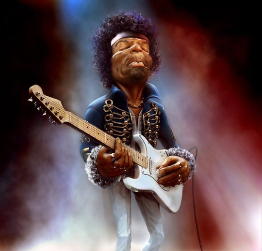 Image: Marcin Klicki - JJimi Hendrix - The Guitar Legend