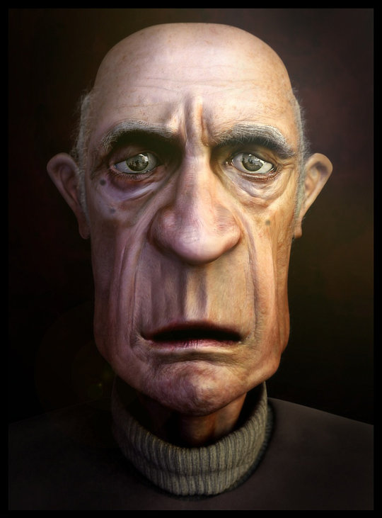 Cartoon Characters Old Man : Amazing semi photorealistic d cartoon characters noupe