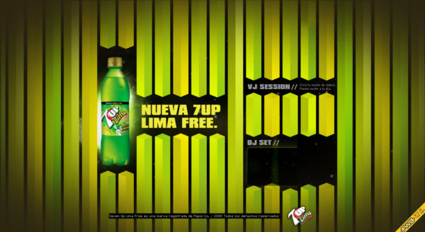 7UP Lima Free On Showcase Of Web Design In  Argentina