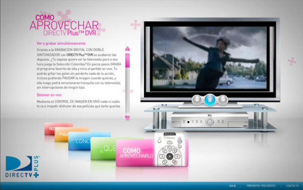 DirectTV Plus On Showcase Of Web Design In  Argentina