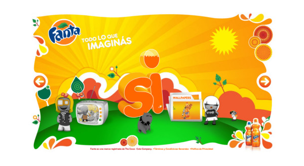 Fanta On Showcase Of Web Design In  Argentina