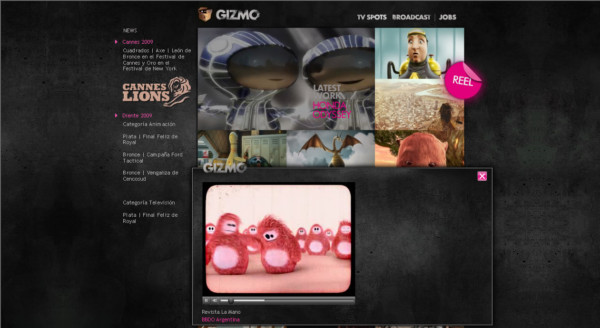 Gizmo On Showcase Of Web Design In  Argentina