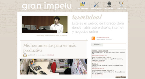 Gran Impetu On Showcase Of Web Design In  Argentina