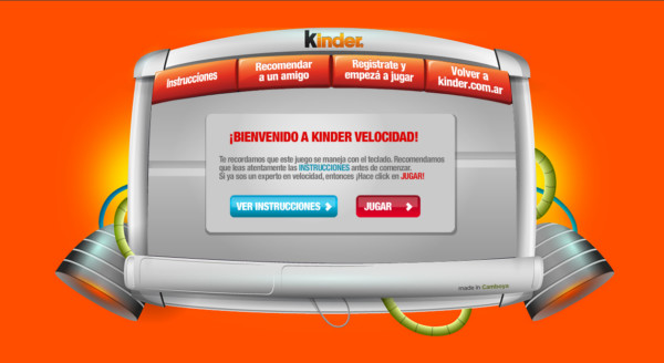 Kinder Velocidad On Showcase Of Web Design In  Argentina