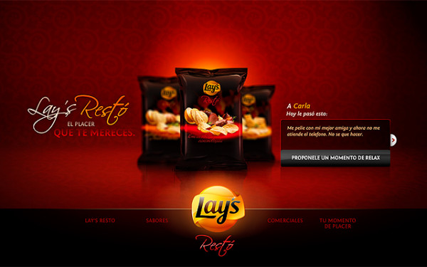 Lays Restò On Showcase Of Web Design In  Argentina