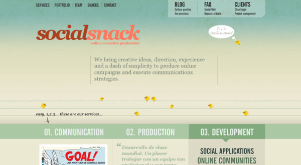 Social Snack On Showcase Of Web Design In  Argentina