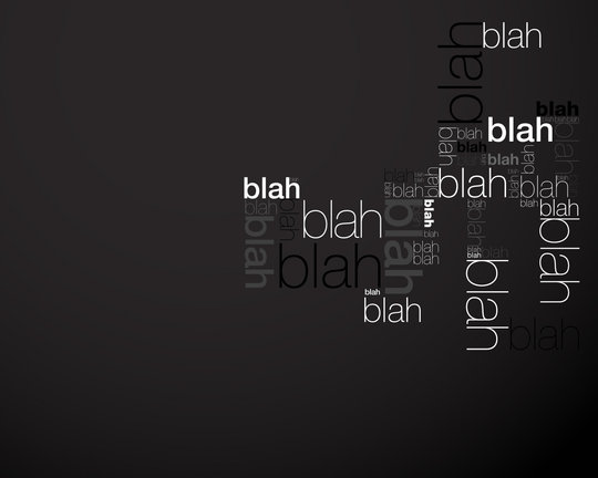 Wallpaper: lurino - blah blah blah in black