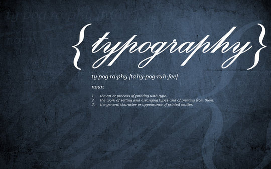 Wallpaper: Hallaserke - typography