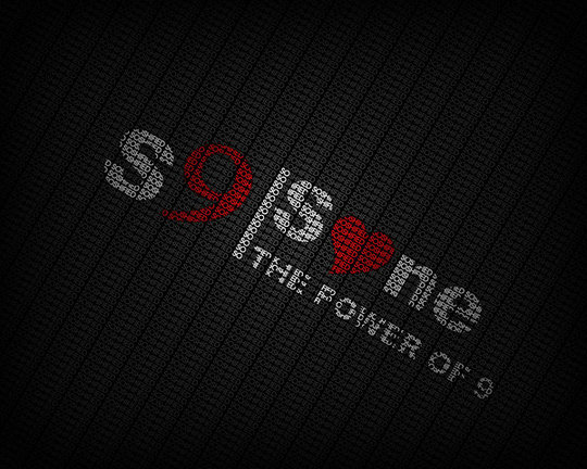 Wallpaper: FFVortex - Soshified typography wallpaper