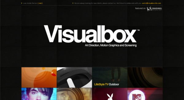 Visual Box On Showcase Of Web Design In  Argentina
