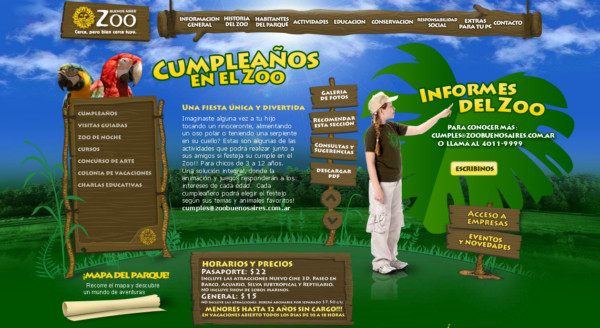 Zoo Buenos Aires On Showcase Of Web Design In  Argentina