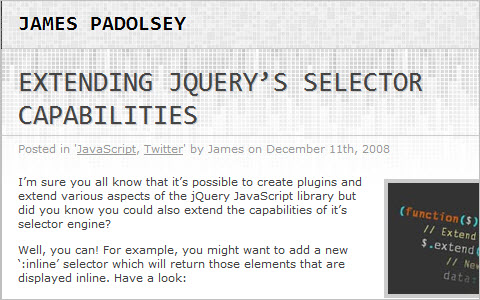Extending jQuery's selector capabilities