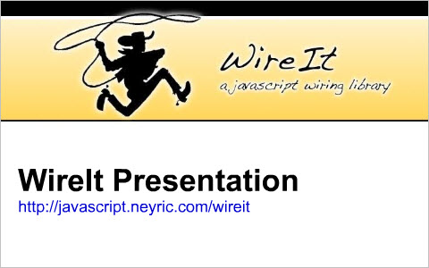 WireIt - a Javascript Wiring Library