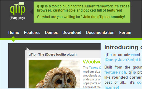 qTip - The jQuery tooltip plugin