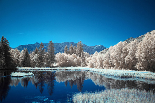 Infrared Lake in Infrared Photography
