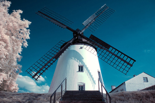 Windmill Infrared in Infrared Photography