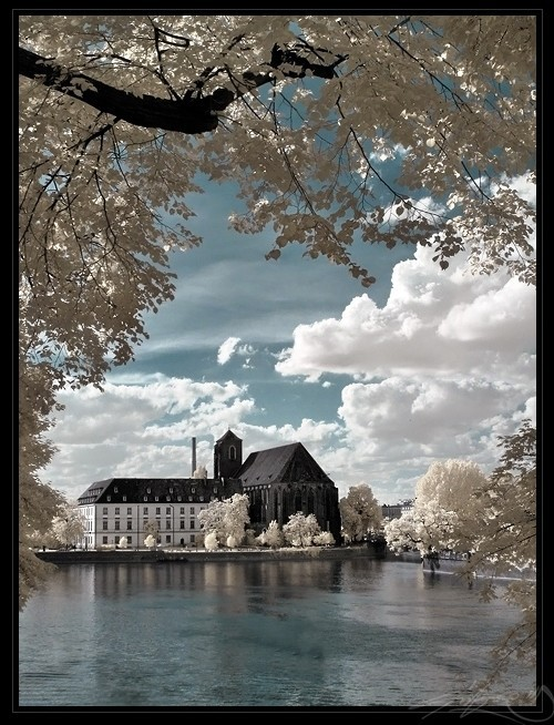 Virgin Mary 'On Sand' Church (Poland) in Infrared Photography
