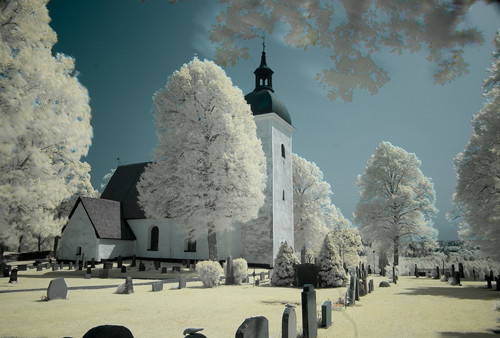 Grödinge Church Infrared in Infrared Photography