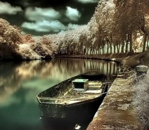 The Gilded River in Infrared Photography