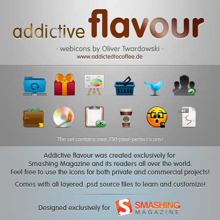 Iconset Addictive Flavour
