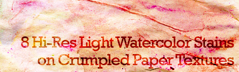 Light Watercolor Stains on Crumpled Paper