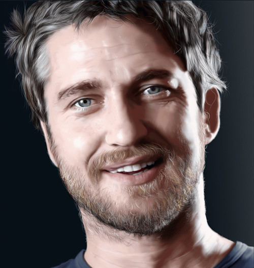 Gerard Butler Digital Painting