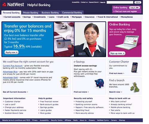 natwest business plan template - showcase of well designed banking and investment websites