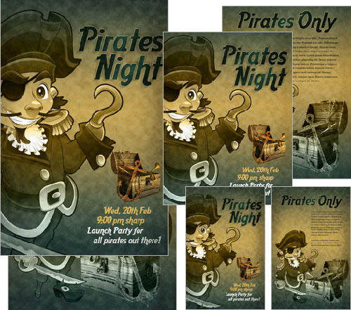 Create an Aged and Textured Pirate Poster