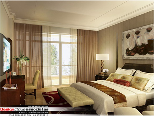 3D rendering 005 - Apartment Bedroom