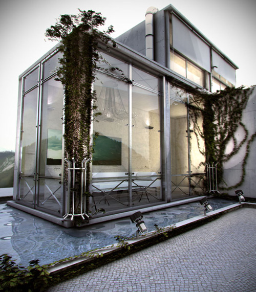 Glass outdoor