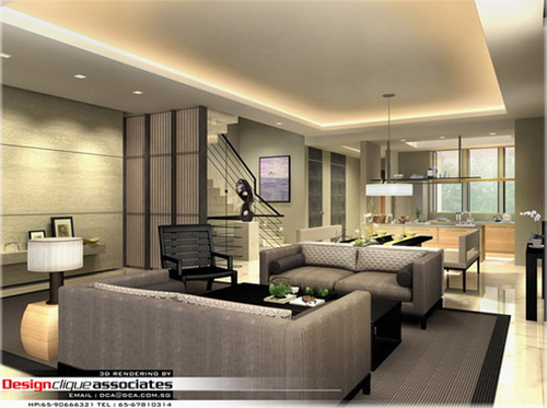 3D rendering 003 - Private Living Room