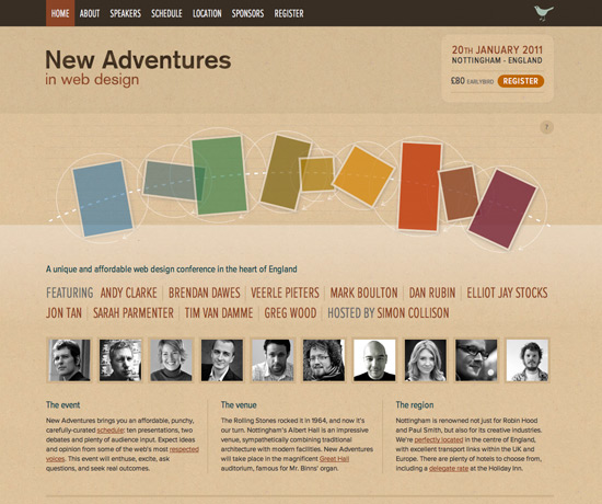 Showcase of Fresh Texture-Based Web Designs - noupe