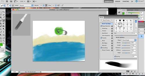 New in PS CS5: Brush Engine