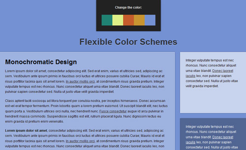 Flexible Color Schemes in Layouts with RGBa