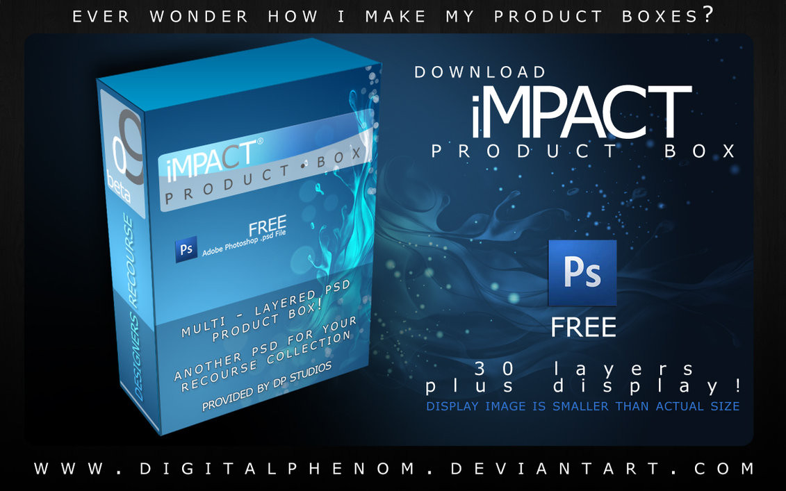 FREE Product Box PSD