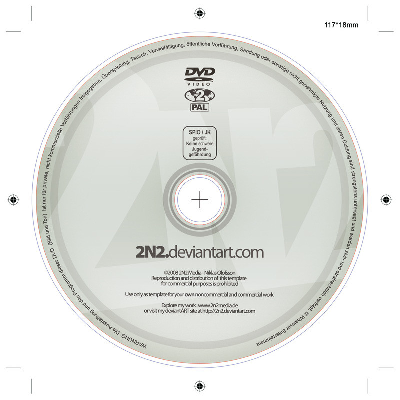 DVD Label - PSD Template