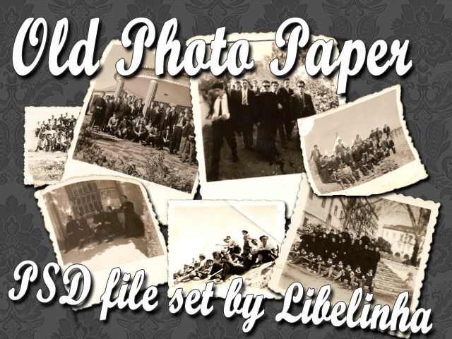 Old photo paper image set