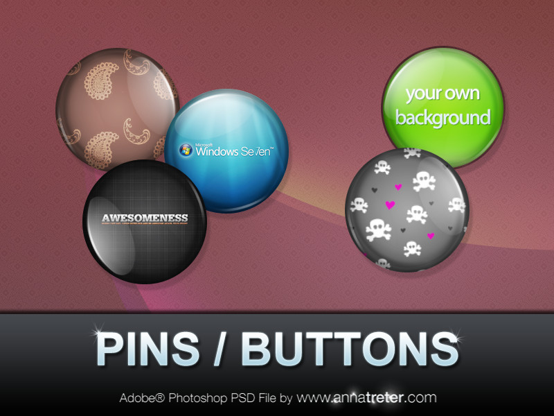 Customizable Pins Buttons