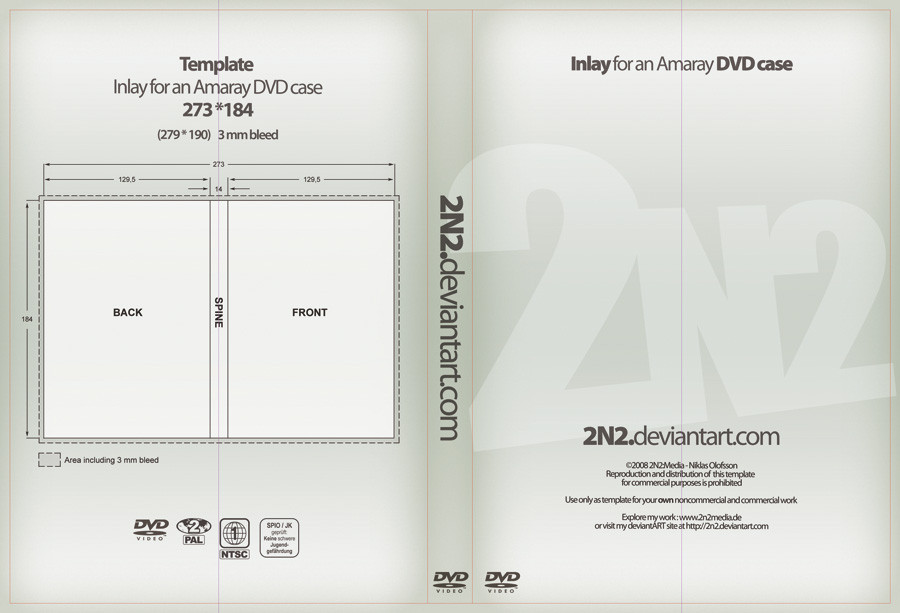 DVD Case Inlay - PSD Template