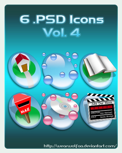 6 .PSD Icons Vol. 4