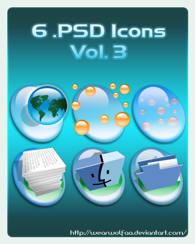 6 .PSD Icons Vol. 3