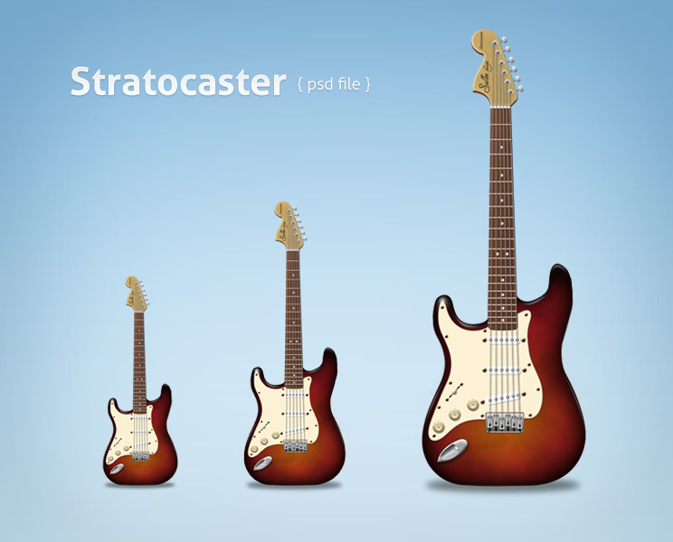 stratocaster Classic psd