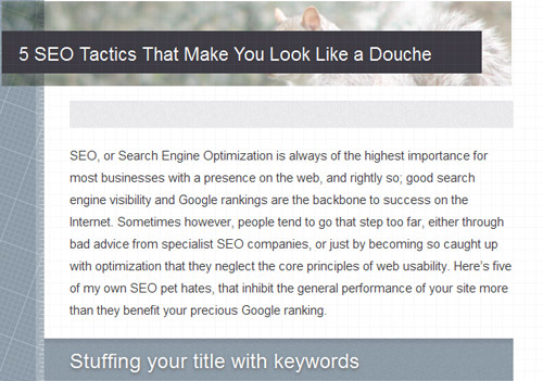 5 SEO Tactics That Make You Look Like a Douche